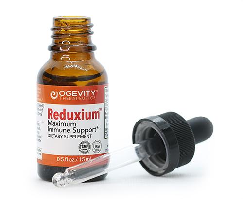 Reduxium bottle and dropper